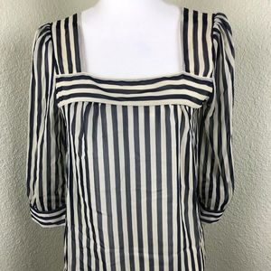 Pins And Needles Anthropologie Striped Blouse